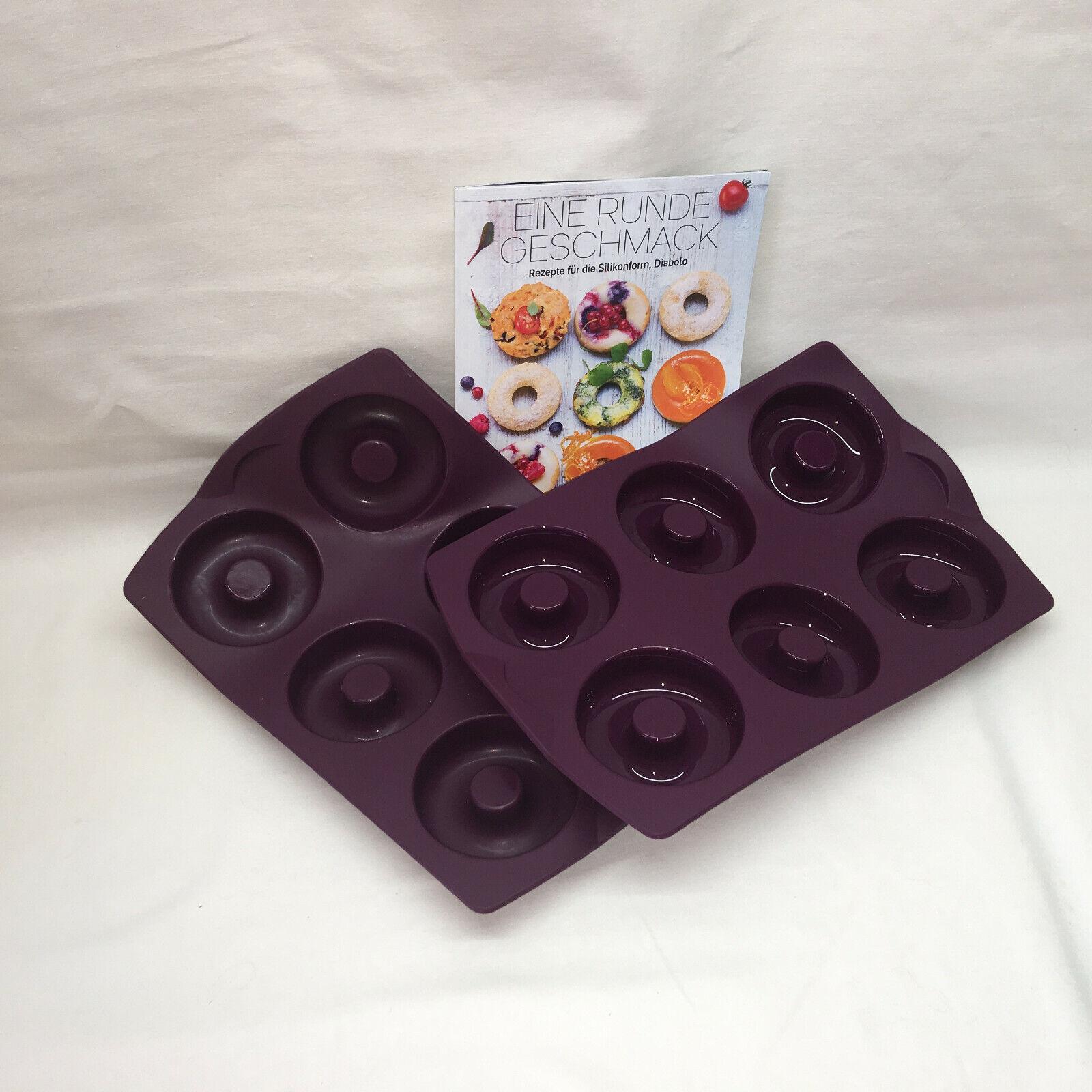 TUPPERWARE - 3er-set - 2 x Diabolo-Donut-Silicone moule-rezeptheft-h49