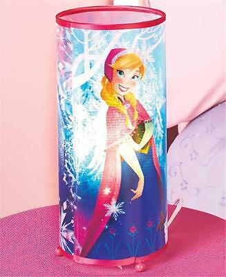 "DISNEY FROZEN PRINCESS CHARACTER  BEDROOM 12"" HIGH TABLE ACCENT CYLINDER LAMP"