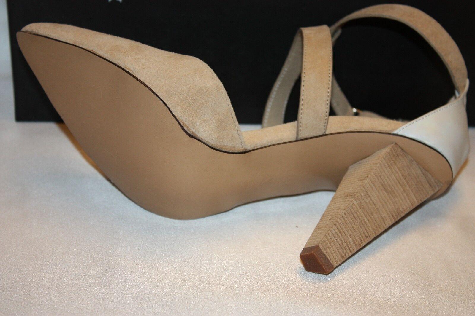 NEW NIB MATT BERNSON New York CASEY JONES Sand Suede Suede Suede Weiß Patent Heels 4751f9