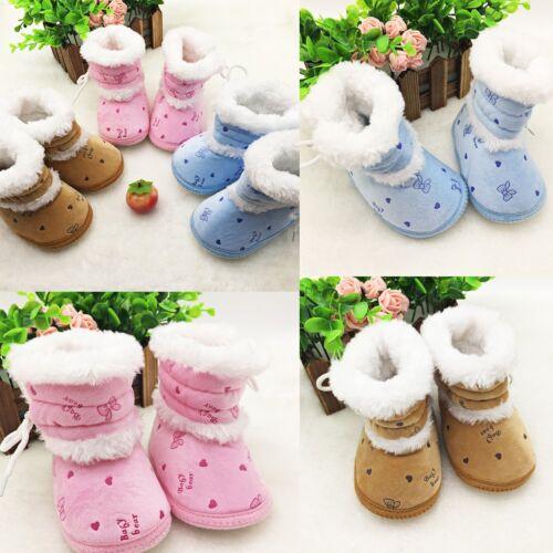 Baby Boy Girl Winter Warm Snow Boots Fashion Infant Soft Sole Slipper Crib Shoes