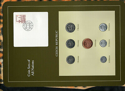 Coin Sets of All Nations Slovakia  Slovak Republic w//card 1993-1994 UNC