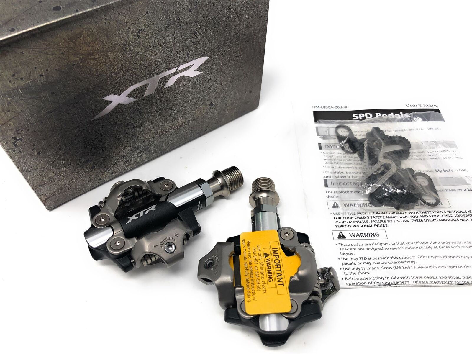 NEW Shimano XTR PD-M9100 S1 Race  XC SPD MTB Bike Pedals -3mm @ 52 mm Axle Cleats  brand on sale clearance