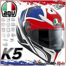 CASCO INTEGRALE AGV K-5 K5 E2205 MULTI ROADRACER BIANCO/ROSSO/BLU TAGLIA XL 61