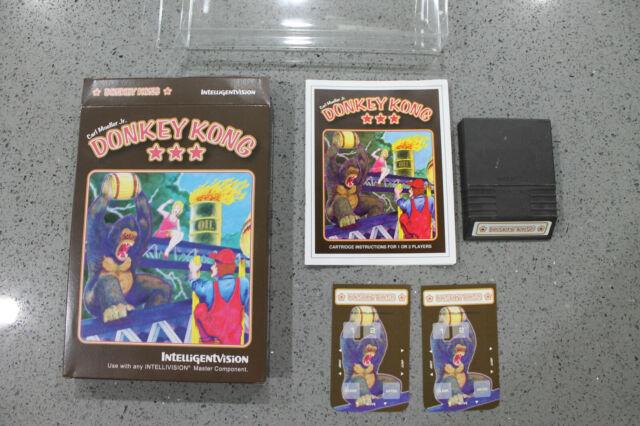 Rare Intellivision Homebrew Donkey Kong CIB Intelligentvision DK Arcade