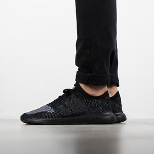 adidas originals swift run primeknit trainers in black cg4127