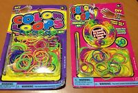 2 Lot Bracelet Rainbow Color Loops Loom Weave Kit Diy Girls Craft Kit Bands