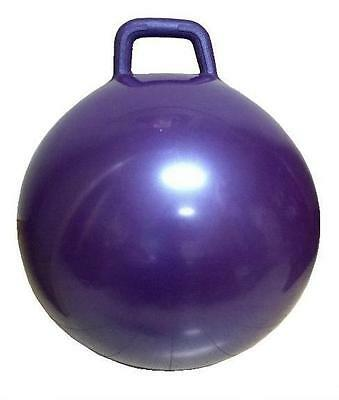 PURPLE GIANT RIDE ON HOP BOUNCE BALL WITH HANDLE hopping rideon kids toy rubber