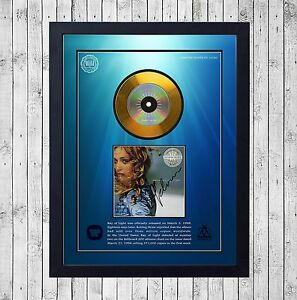 MADONNA-RAY-OF-LIGHT-CUADRO-CON-GOLD-O-PLATINUM-CD-EDICION-LIMITADA-FRAMED