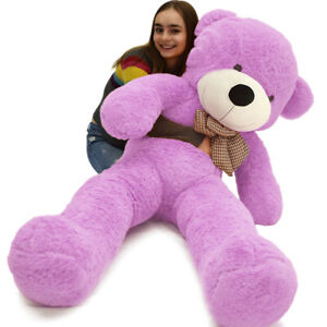 Giant Teddy Bear Purple Huge Stuffed Plush Animals Toy Doll Birthdays Gift 47 Other Plush Bears