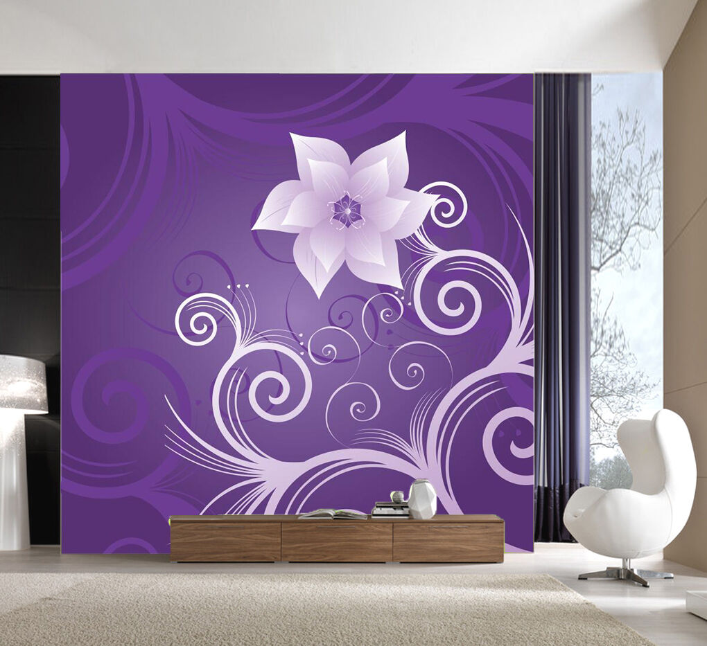 3D Graceful Flowers 1 Wall Paper wall Print Decal Wall Deco Indoor wall Mural