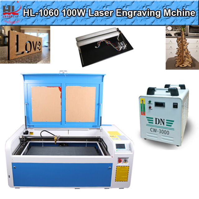 100W CO2 Laser Engraving Machine 1000*600mm DSP Laser Cutter Engraver Reci Tube