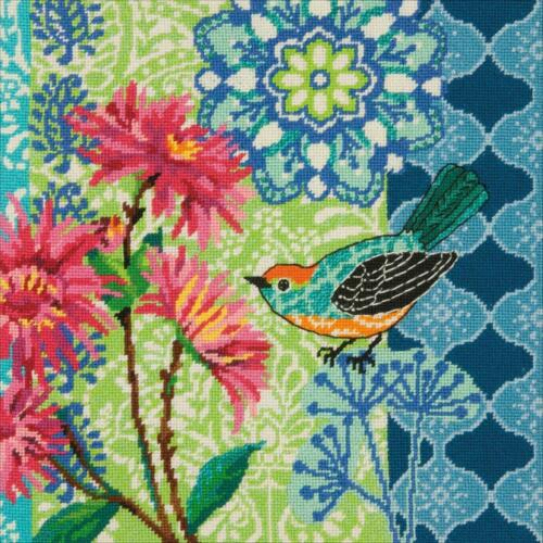 Needlepoint Kit BLUE FLORAL Bird Dimensions New Release!