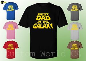 Men-T-Shirt-Best-Dad-In-The-Galaxy-Cute-Design-Men-Shirts