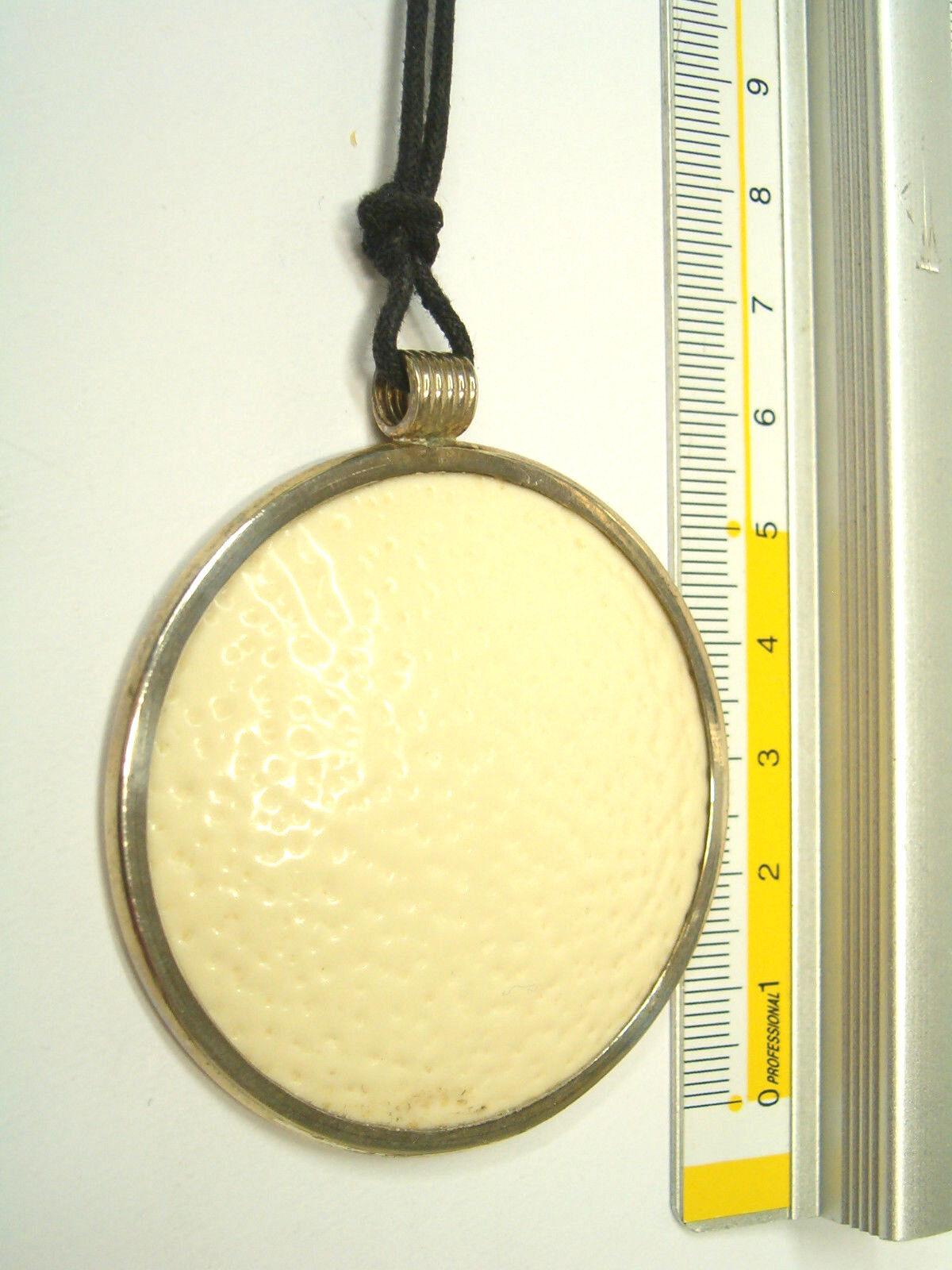 Ciondolo in in in argentoO 925 con vero UOVO di STRUZZO - pendente e girocollo 8335c5
