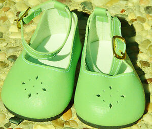 "Light Green Diamond Cut Ankle Strap Shoes to fit 22/"" Dolls New 85mm 44mm"