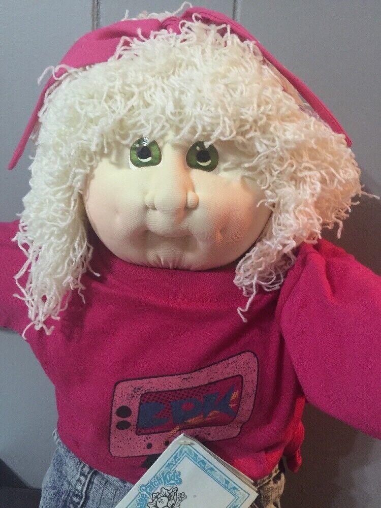 1988 weich Sculpture Cabbage Patch Kid Hand Signed, Lora Wendy