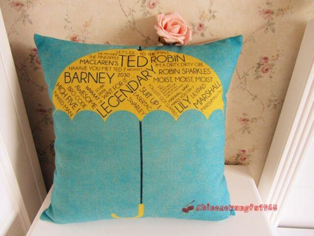 TV Serious How I Met Your Mother Yellow Umbrella Cushion Pillow Cushion Linen