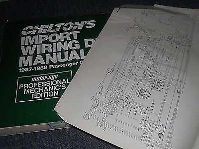 1987 SUBARU JUSTY OVERSIZED WIRING DIAGRAMS SCHEMATICS MANUAL ... subaru wiring harness diagram eBay