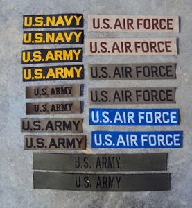 1950-039-s-to-Vietnam-War-US-Army-Navy-Air-Force-Pair-of-Patches-Badges-Tapes