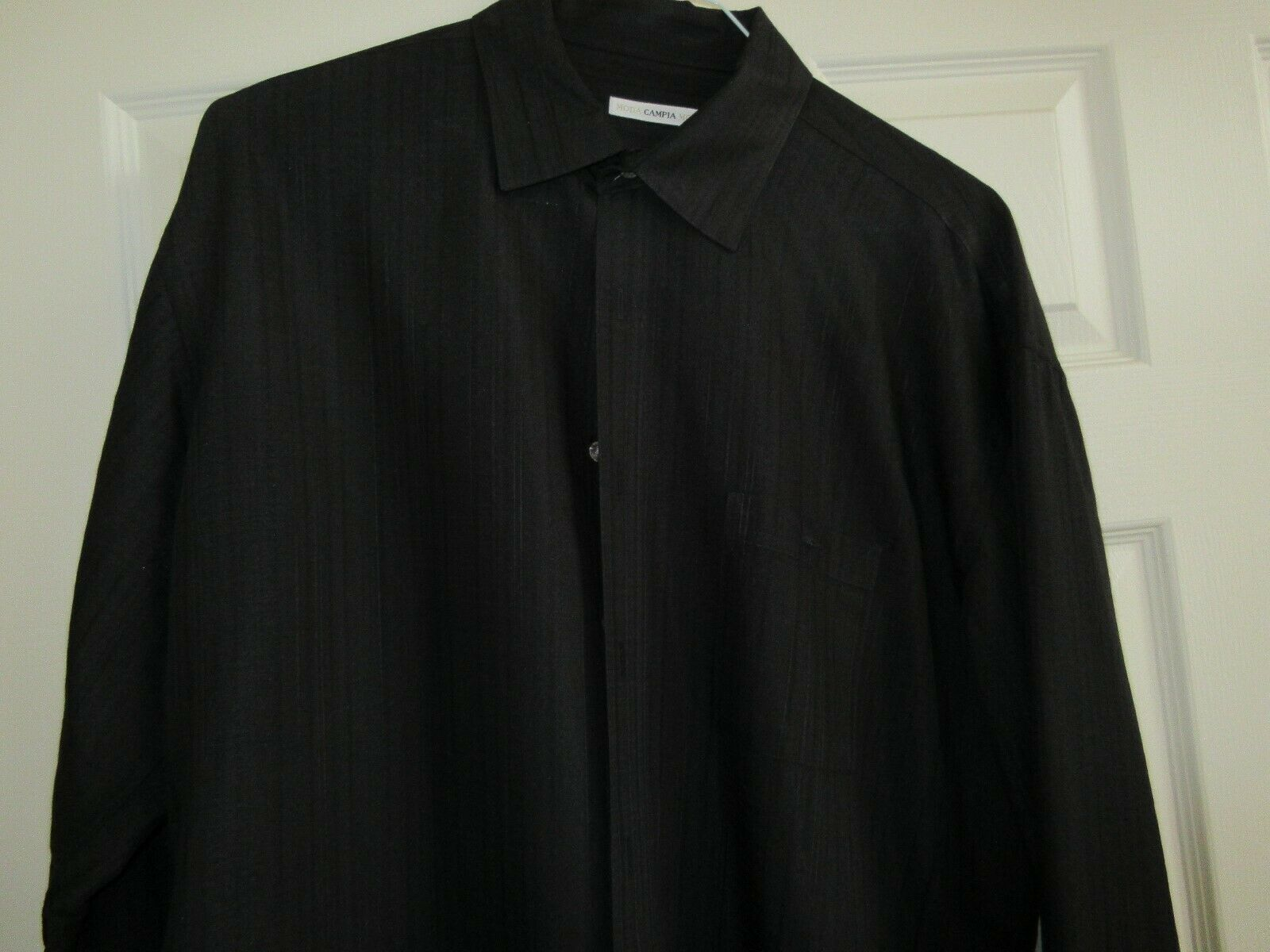 Campia Moda , Men's Long Sleeve Shirt ,L,BlackOnBlack ,