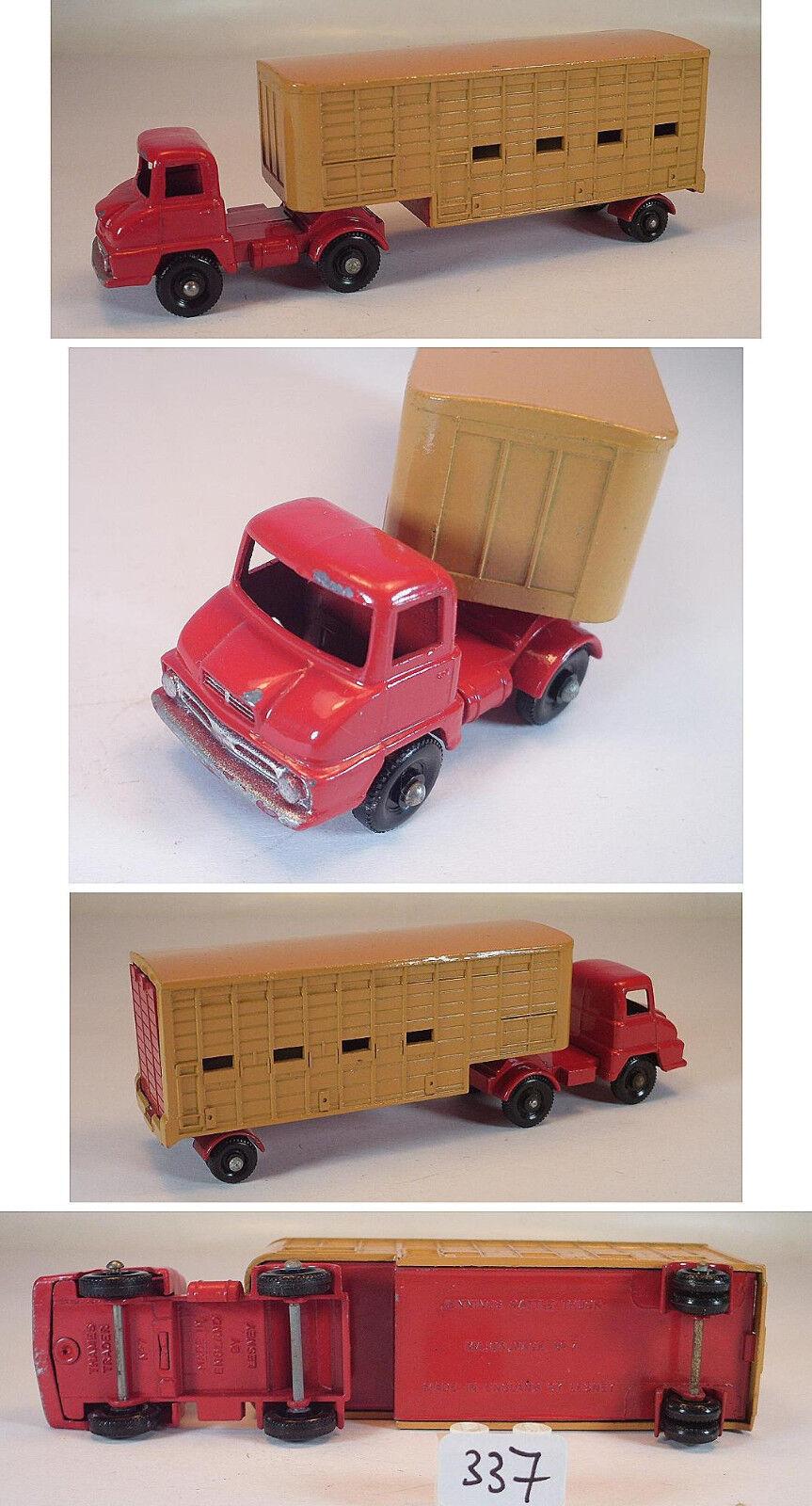 Matchbox major Pack nº m-7 Jennings cattle Truck rosso tan BPW Lesney