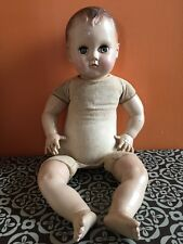 """Vintage/Antique 30's AMERICAN CHARACTER Hard Plastic Cloth Body 17"""" 👶 Doll"""