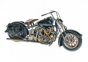 40cm Harley Blech Modell Motorrad Bike Chopper Cruiser Biker Metall Geschenk Boy
