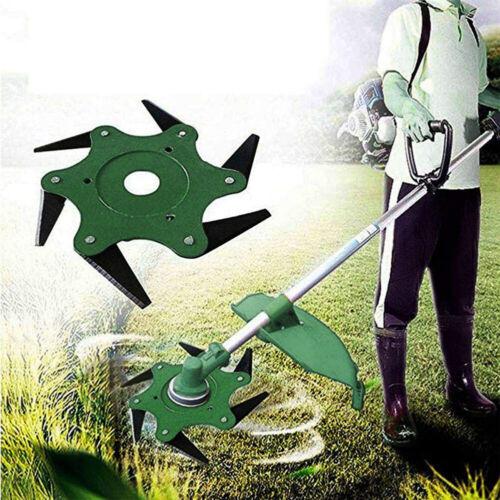 Trimmer Head 6 Blades Razors Universal Grass Weed Eater Brush Cutter Blades Gard