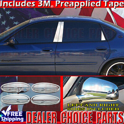 For 2000-2005 Chevy Chevrolet Impala Chrome Mirror Covers