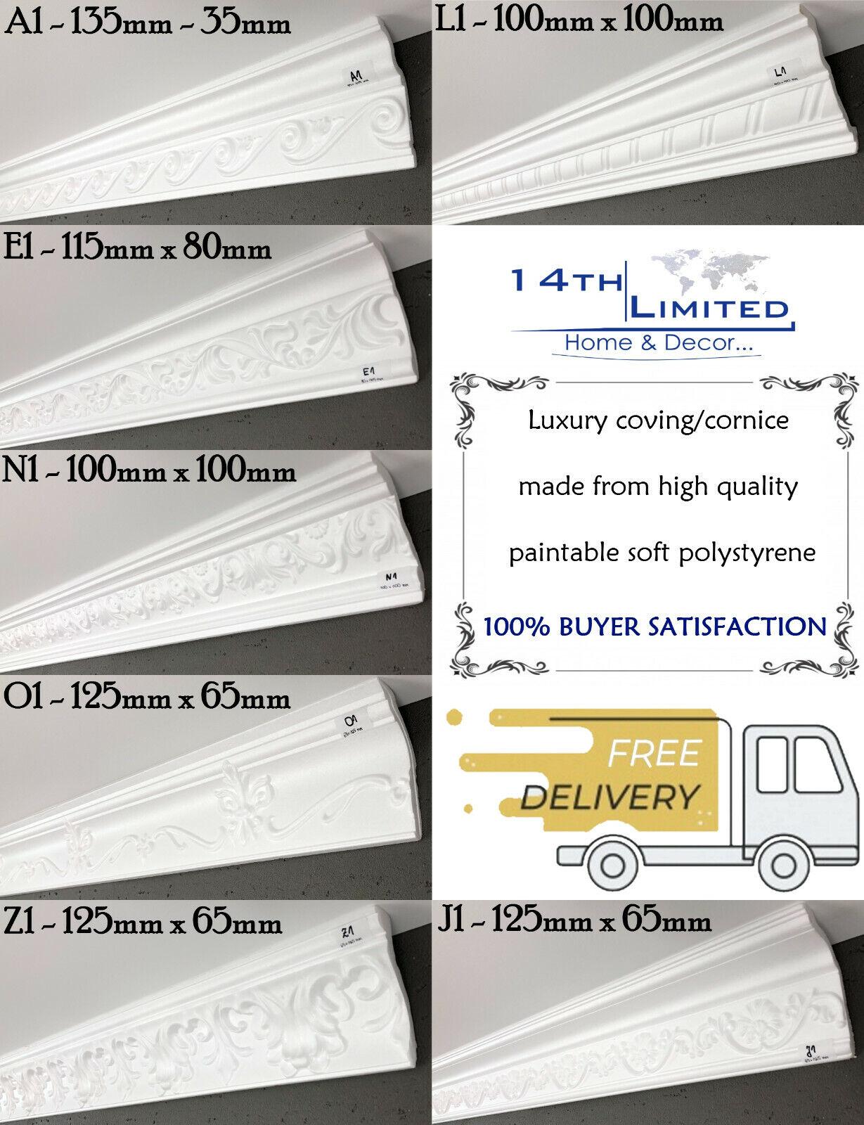 XPS Polystyrene Coving Cornice BFA11 Decoration Cheapest MANY LARGE SIZE QUALITY