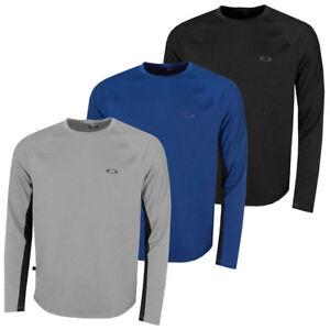 Oakley-Abbigliamento-TECH-Lavorato-a-Maglia-da-uomo-sport-amp-CASUAL-WEAR-a-Maniche-Lunghe-Girocollo