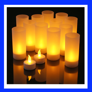 Bulk Led Tea Lights Tealight Wit Candle Holder Flickering