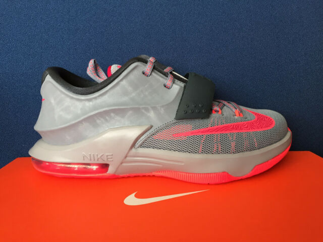 caef26be8c0 Nike KD 7 VII GS Sz 4.5y Calm Before The Storm Grey Red Kevin Durant  669942-001 for sale online