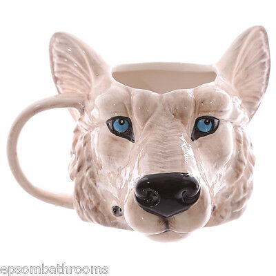 Animal Head Ceramic Shaped Mugs Lion Tiger Leopard Rhino Bulldog Pug Wolf, Cat
