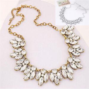 Fashion-Jewelry-Bib-Crystal-Statement-Pendant-Chain-Choker-Collar-Necklace-NEW
