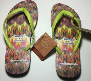 NWT-Missoni-Havaianas-Thong-Sandals-Sz-US-5-6-Ladies-or-4-5-Guys-EUR-37-38