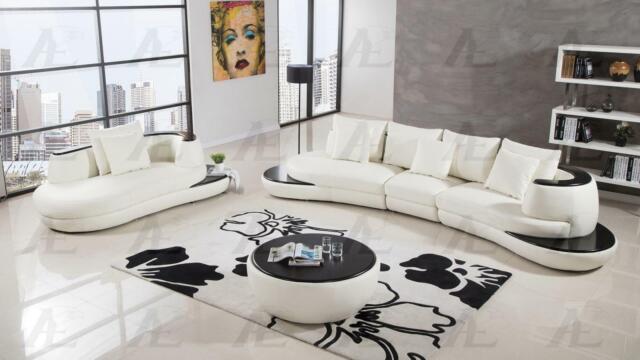 Fine Ivory Faux Leather Sectional W Coffee Table 5Pcs American Eagle Ae L222 Iv Inzonedesignstudio Interior Chair Design Inzonedesignstudiocom