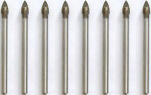 8 Spear Head Ceramic Tile Glass Drill  Bit  6mm TCT Tipped - <span itemprop='availableAtOrFrom'>Bury, United Kingdom</span> - 8 Spear Head Ceramic Tile Glass Drill  Bit  6mm TCT Tipped - Bury, United Kingdom