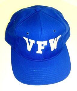 05c358b46b6cd Blue VFW Yupoong Serge Acrylic Wool Blend Snapback Trucker Hat Cap ...