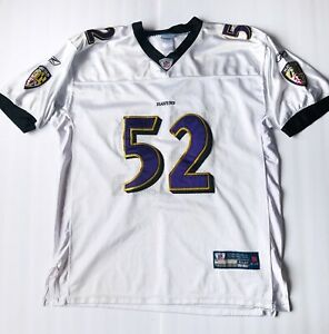 Details about Authentic Reebok Ray Lewis Baltimore Ravens Size 52 NFL Jersey Miami XXL Away