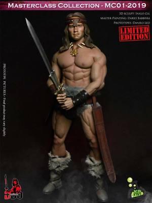 "Kaustic Plastik 1//6th Barbarian Conan head sculpt For 12/"" Male Action"