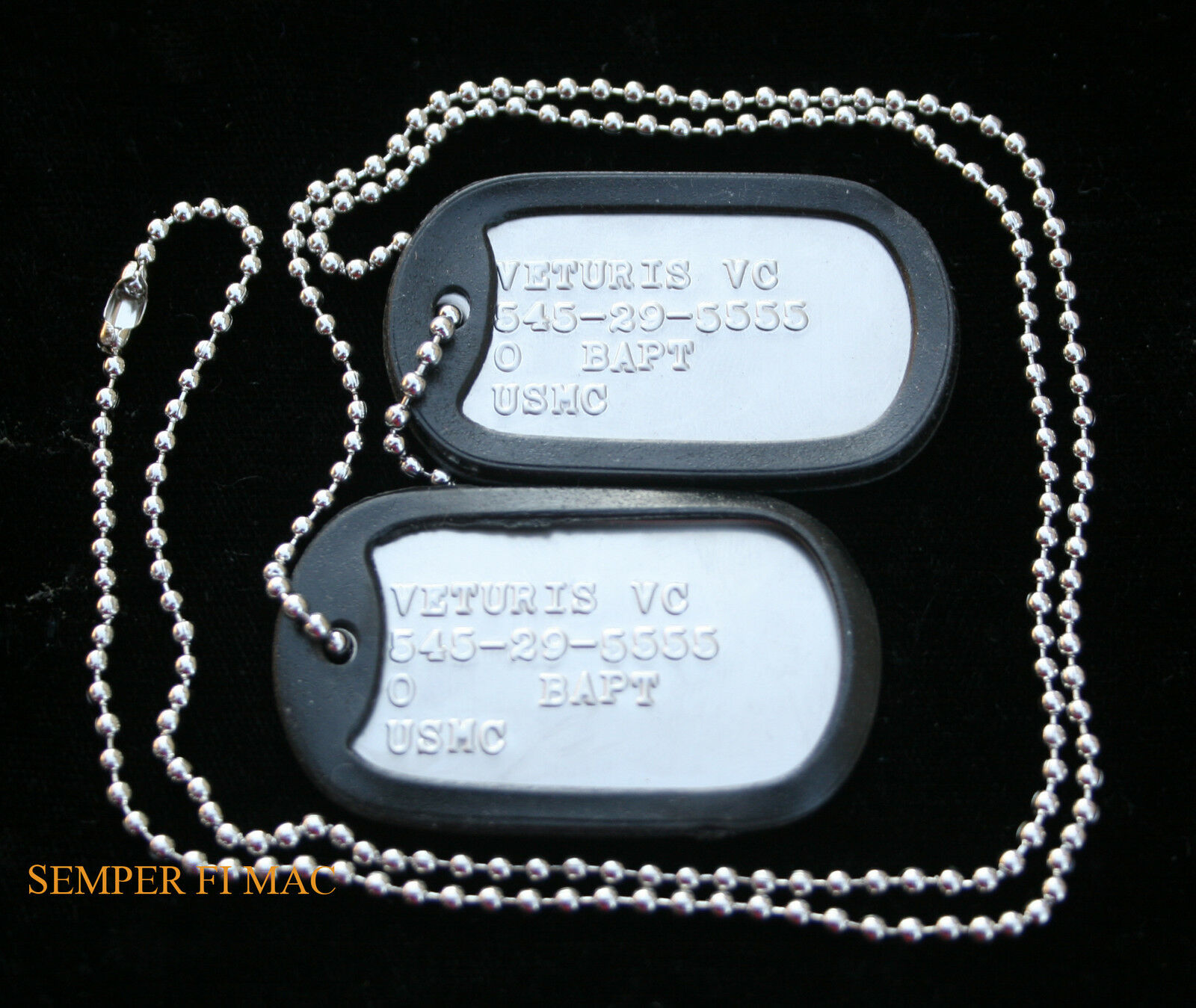 Custom Two Dog Tags Made In Us Us Navy Necklace Usn Uss