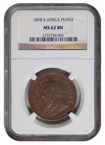 South-Africa-ZAR-NGC-Graded-1898-Kruger-Penny-MS-62-Bn