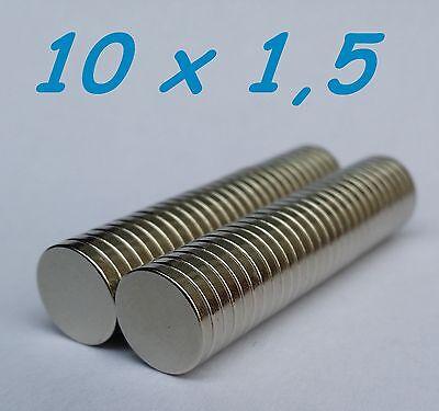 100 MAGNETI NEODIMIO 10X10X2 MM CALAMITA POTENTE FIMO CERAMICA MAGNETE CALAMITE