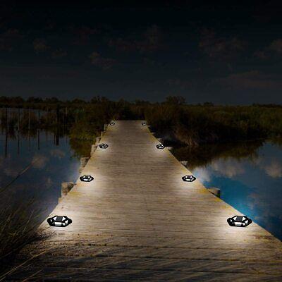 Solar Power 4LED Decking Floor Light Outdoor Pathway Garden Fence Spot Lights ne