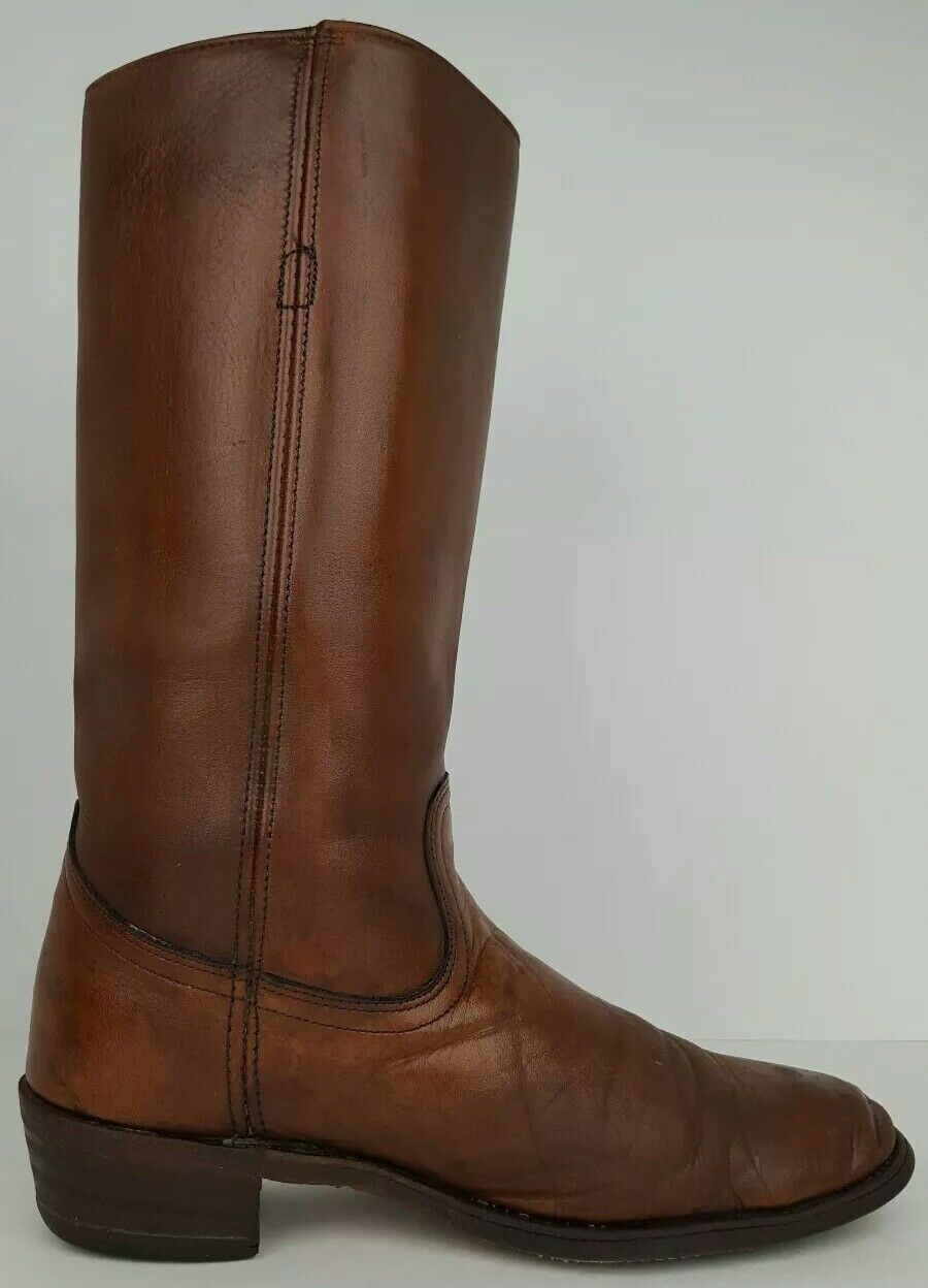 Frye Mens Größe 10 D Distressed Distressed Distressed braun Leather Tall Western Cowboy Stiefel 12.5  138a92