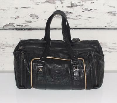 See By Chloé~LARGE~BLACK~SOFT PEBBLED LEATHER~SATCHEL~DUFFLE SHOULDER BAG PURSE