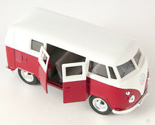 BLITZ VERSAND VW Bus Classical 1962 Samba T1 rot red Welly Modell Auto 1:34 NEU