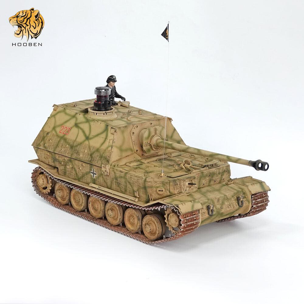 HOOBEN 1//16 Elefant Jagdpanzer Ferdinand montiert und lackiert AFV RC RTR Panzer
