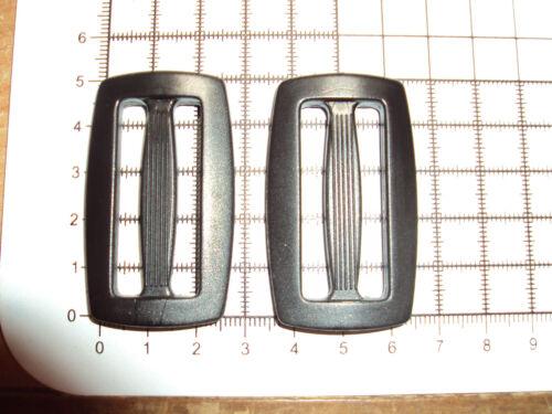 """10pcs 40mm /""""D/"""" BLACK PLASTIC DELRIN 3 BAR SLIDES BUCKLES FOR WEBBING"""